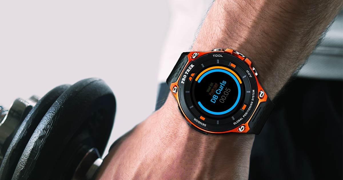 Exercise Timer on CASIO PRO TREK Smart