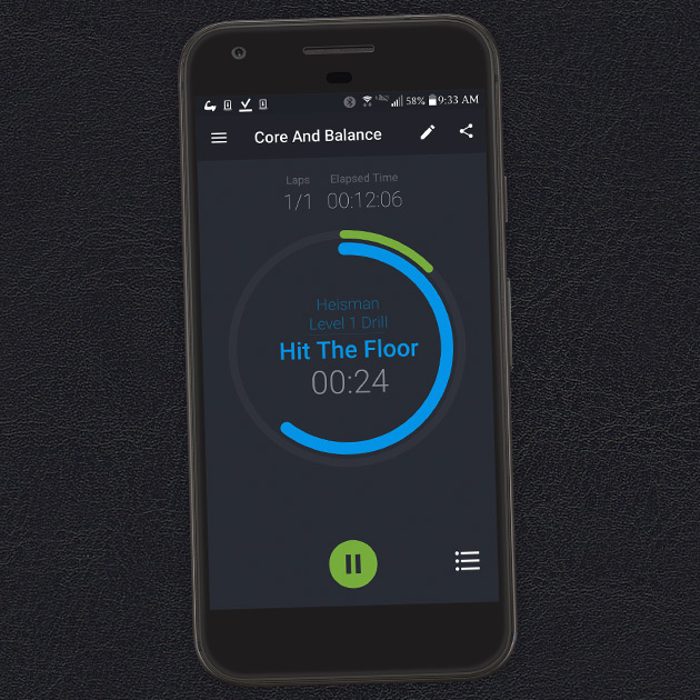 High Intensity Interval Training with Exercise Timer