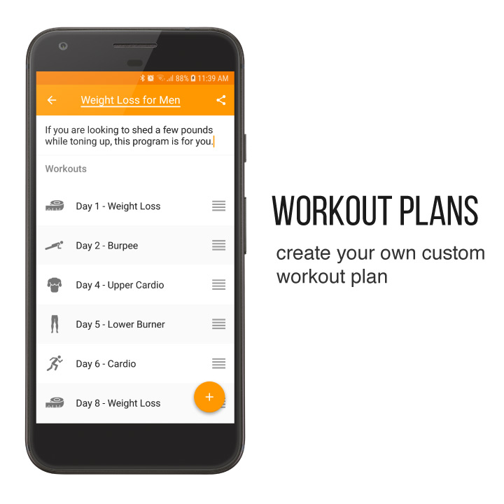Custom workout plans