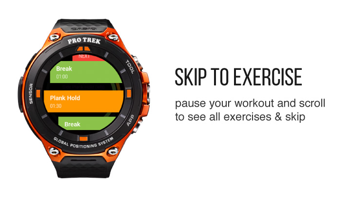 Skip Exercises from Wear OS app